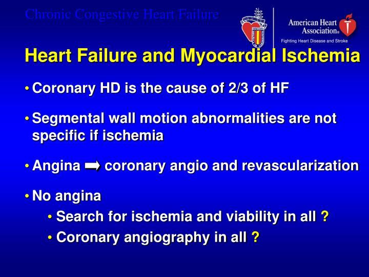 Heart Failure and Myocardial Ischemia