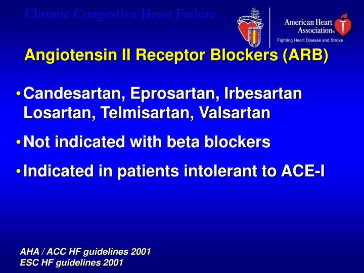 Angiotensin II Receptor Blockers (ARB)
