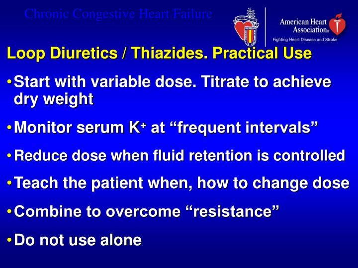 Loop Diuretics / Thiazides. Practical Use
