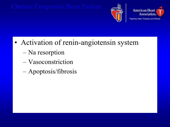 Activation of renin-angiotensin system