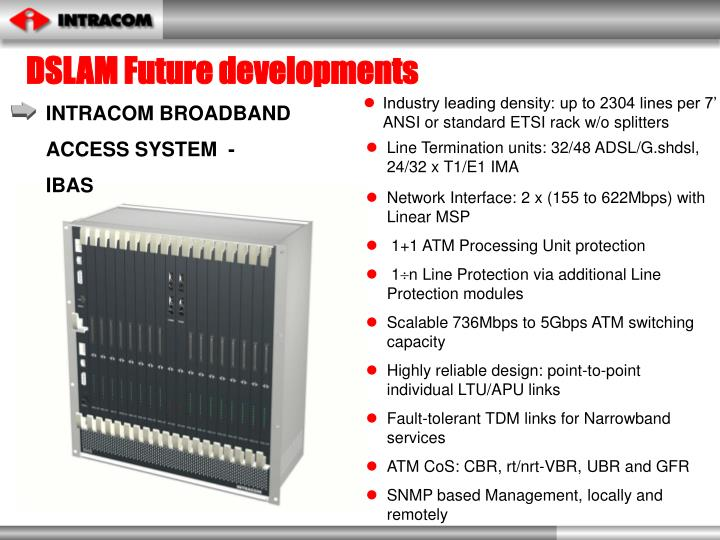DSLAM Future developments