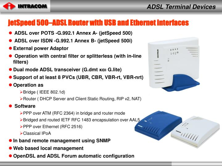 ADSL Terminal Devices