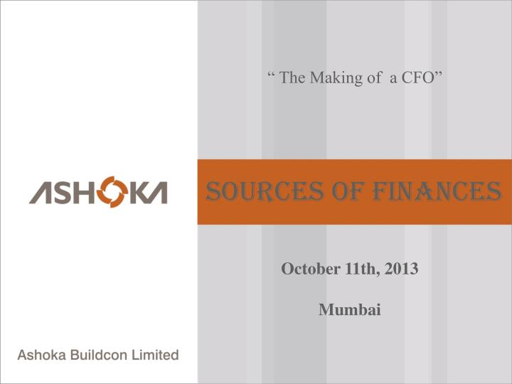 """ The Making of  a CFO"""