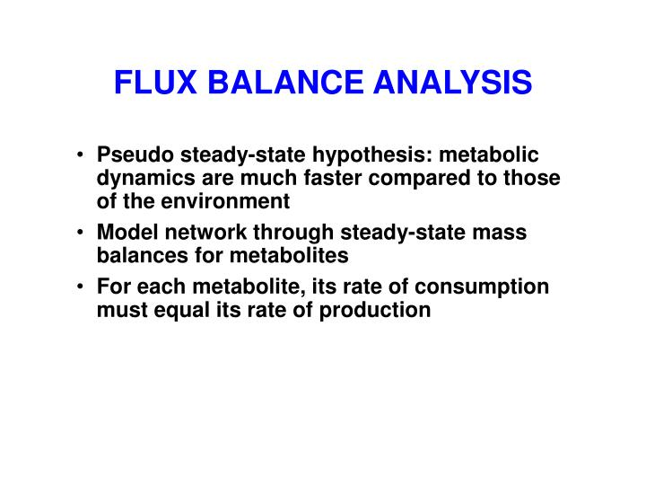 FLUX BALANCE ANALYSIS