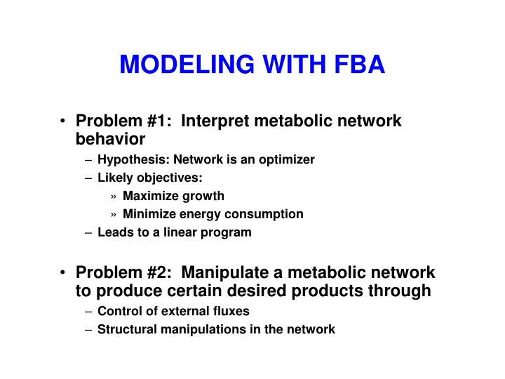 MODELING WITH FBA