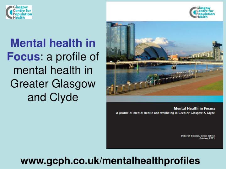 Mental health in Focus