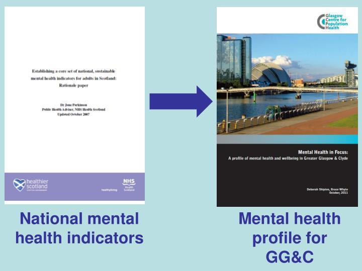 National mental health indicators