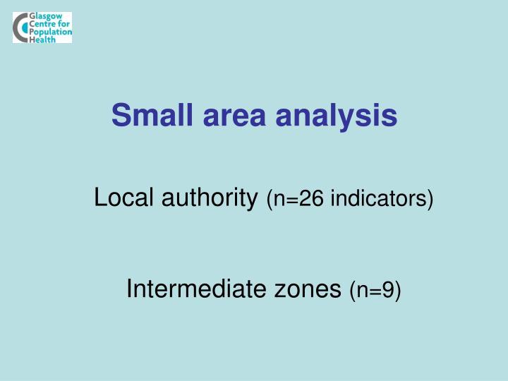 Small area analysis
