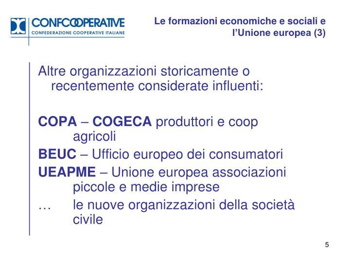 Le formazioni economiche e sociali e l'Unione europea (3)