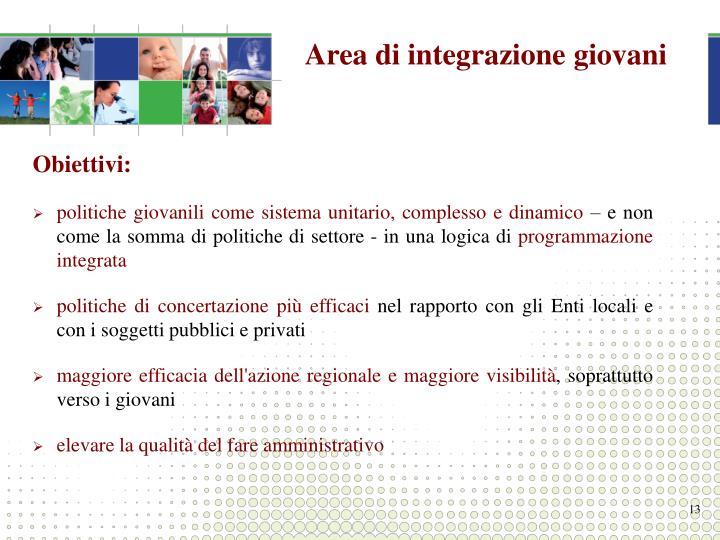Area di integrazione giovani