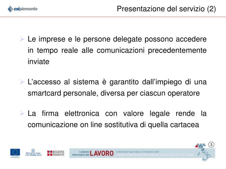 Presentazione del servizio (2)
