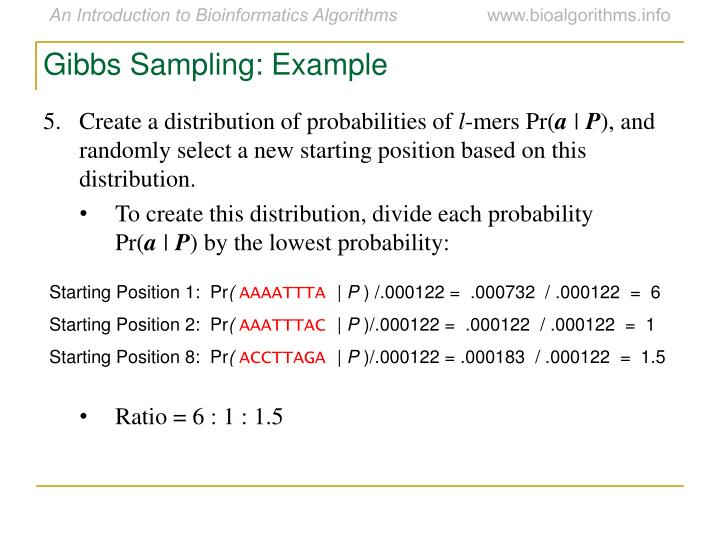 Gibbs Sampling: Example