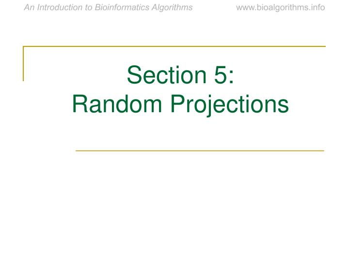 Section 5: