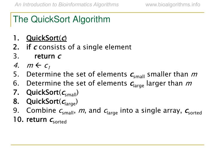 The QuickSort Algorithm