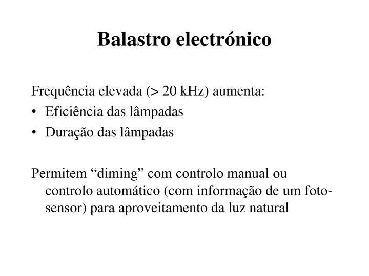 Balastro electrónico