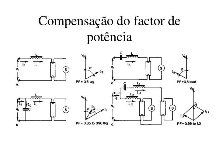 Compensação do factor de potência