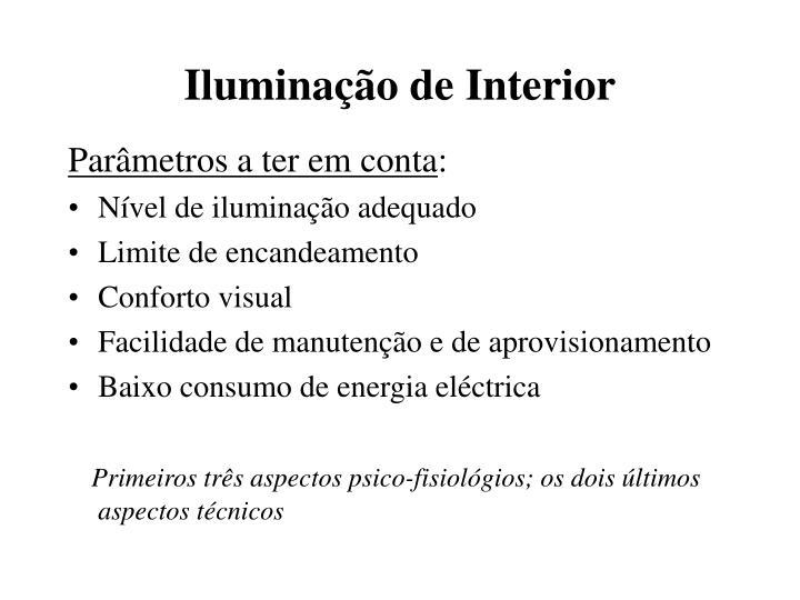 Iluminação de Interior