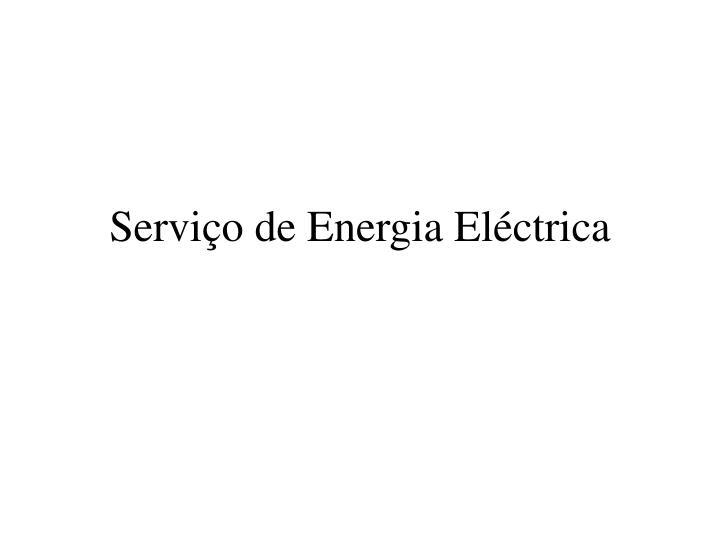 Serviço de Energia Eléctrica