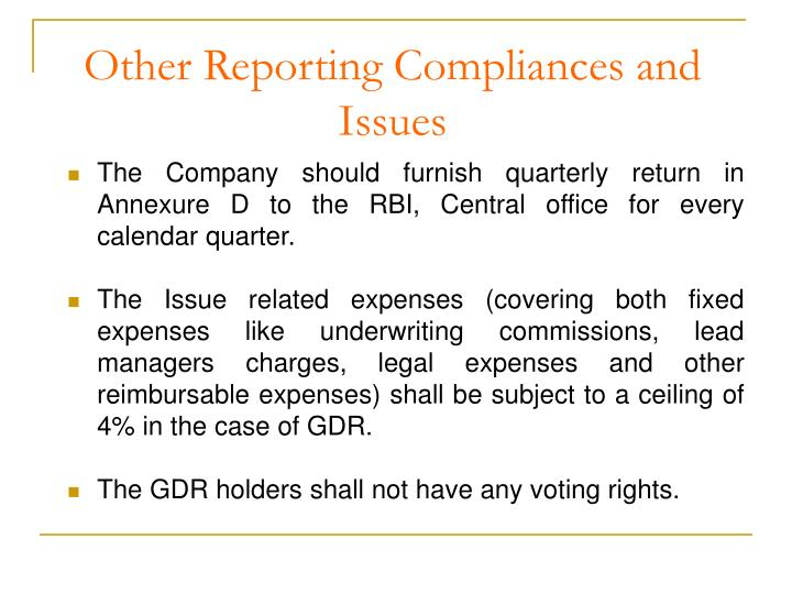 Other Reporting Compliances and        Issues