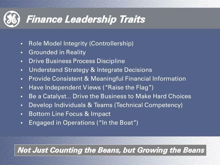 Finance Leadership Traits
