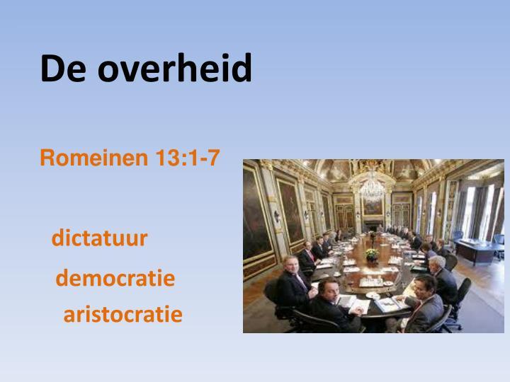 De overheid