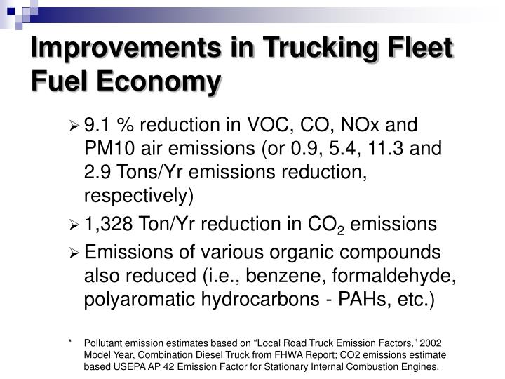 Improvements in Trucking Fleet Fuel Economy