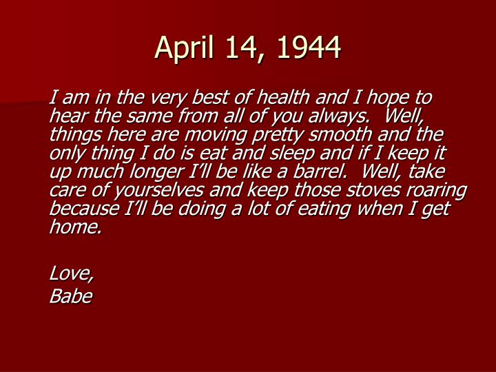 April 14, 1944