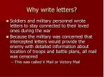 why write letters