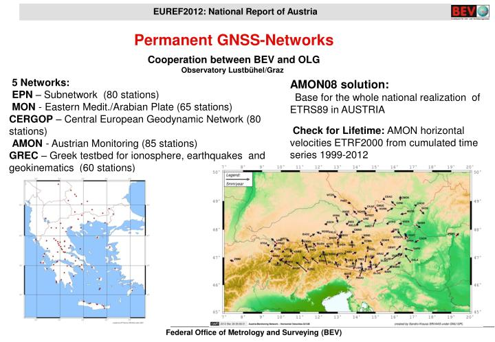 Permanent GNSS-Networks