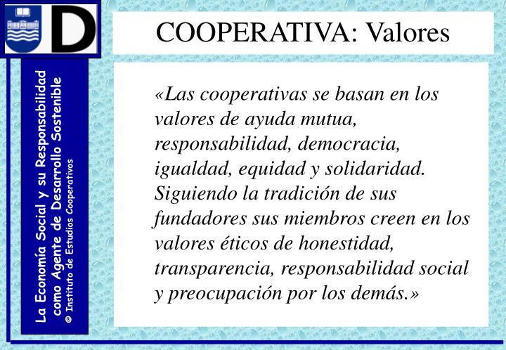 COOPERATIVA: Valores