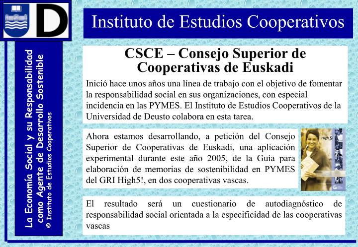 CSCE – Consejo Superior de Cooperativas de Euskadi