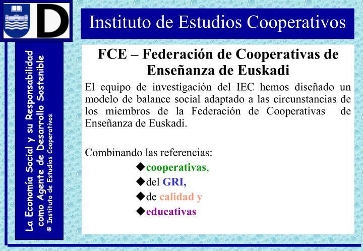FCE – Federación de Cooperativas de Enseñanza de Euskadi
