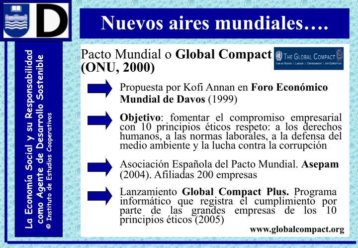 Nuevos aires mundiales….