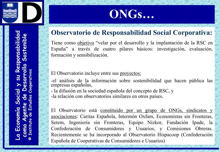 ONGs…