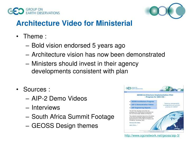 Architecture Video for Ministerial