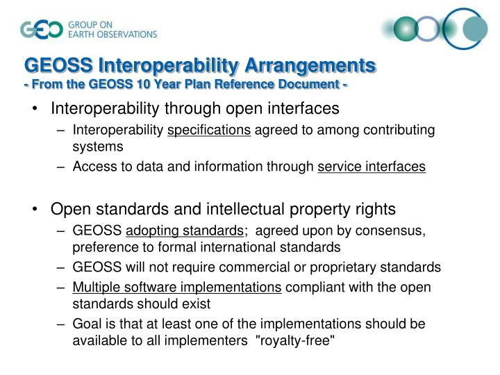 GEOSS Interoperability Arrangements