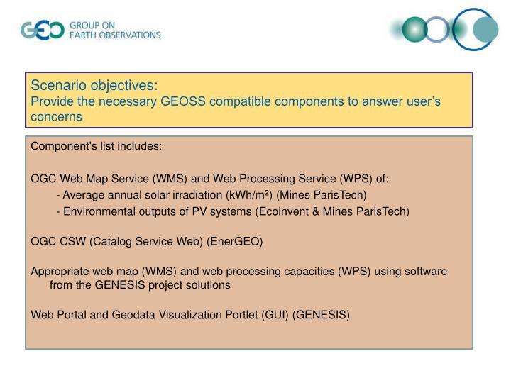 Scenario objectives: