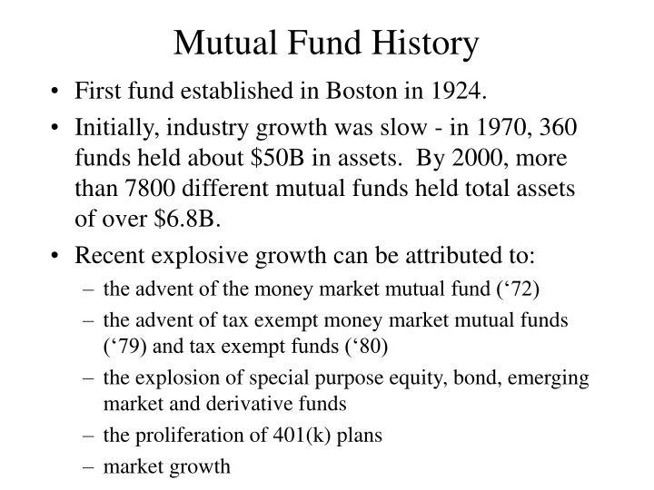 Mutual Fund History