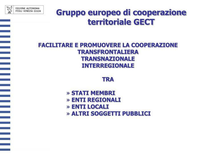 Gruppo europeo di cooperazione territoriale GECT