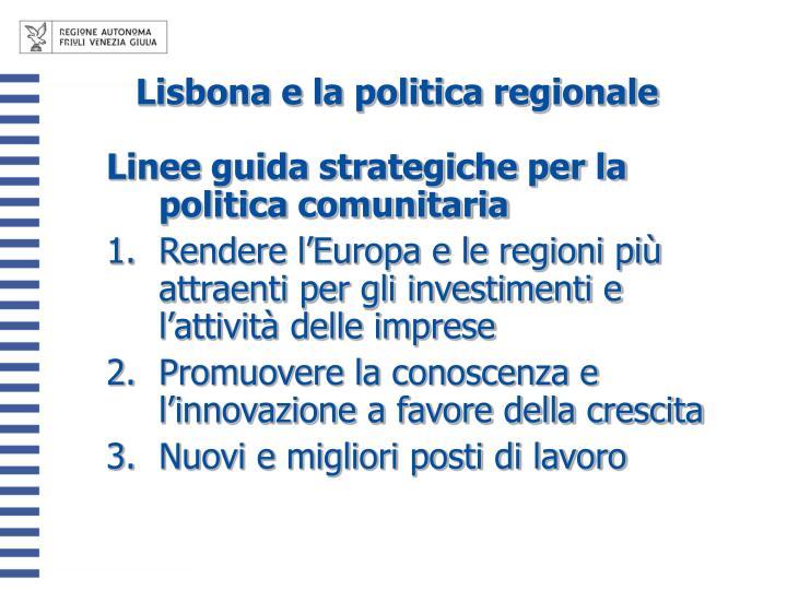 Lisbona e la politica regionale