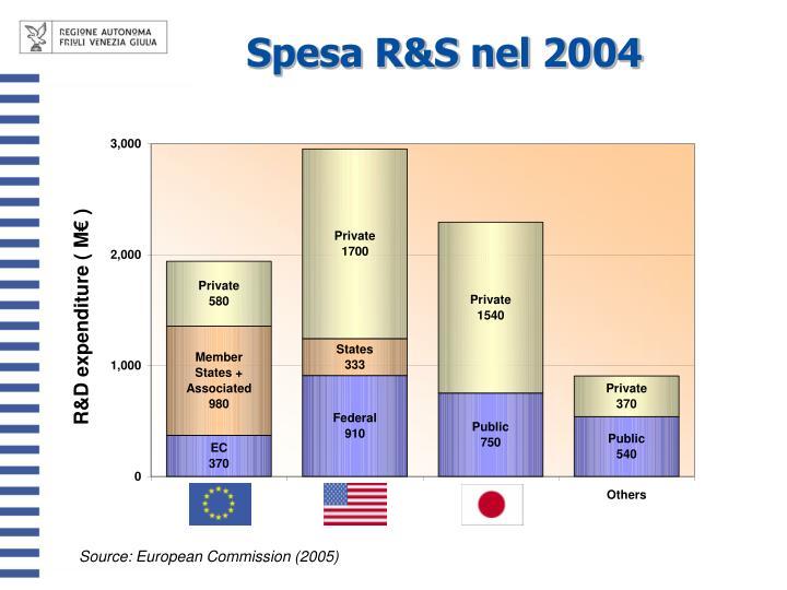 Spesa R&S nel 2004