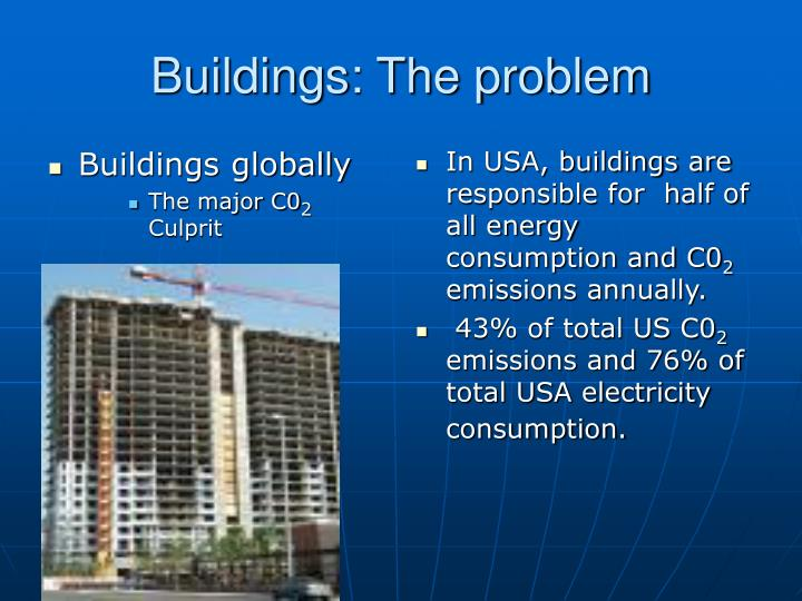 Buildings: The problem