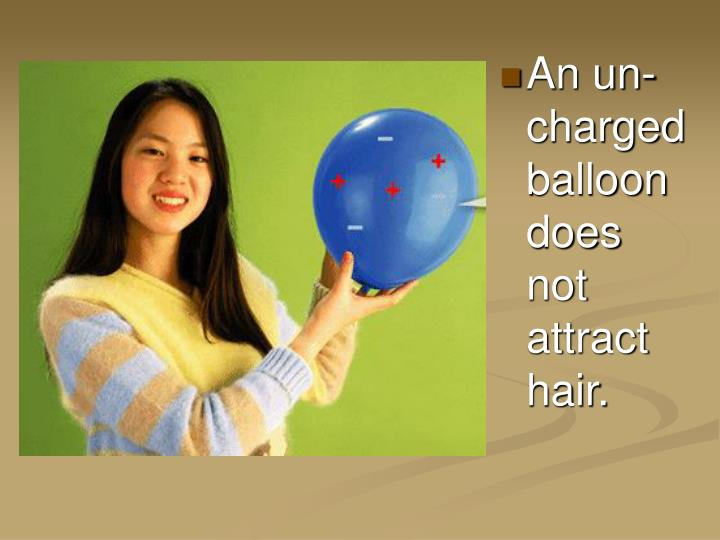 An un-charged balloon does not attract hair.