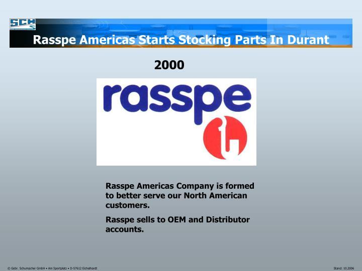 Rasspe Americas Starts Stocking Parts In Durant