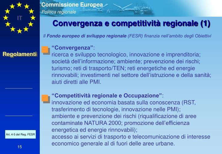 Convergenza e competitività regionale (1)