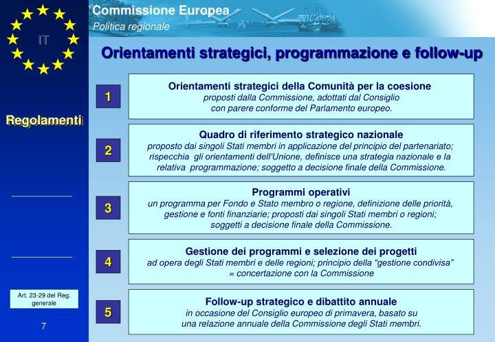 Orientamenti strategici della Comunità per la coesione