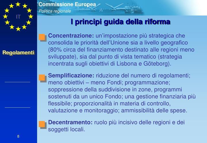 I principi guida della riforma