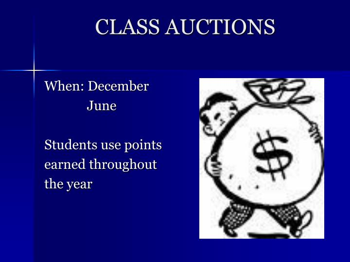 CLASS AUCTIONS