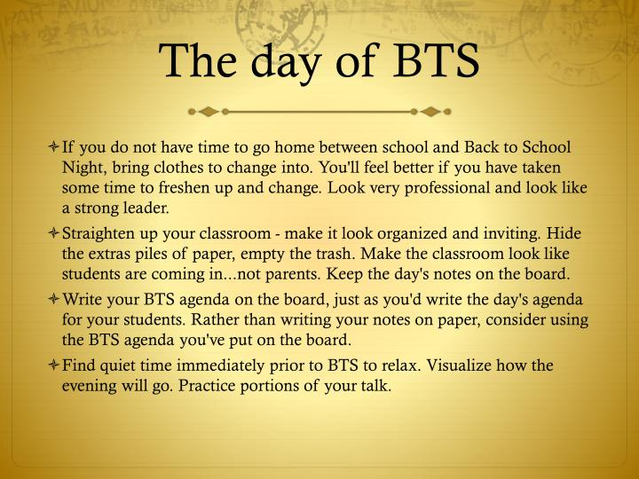 The day of BTS