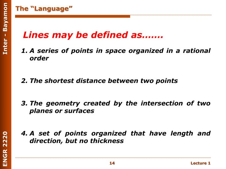 "The ""Language"""